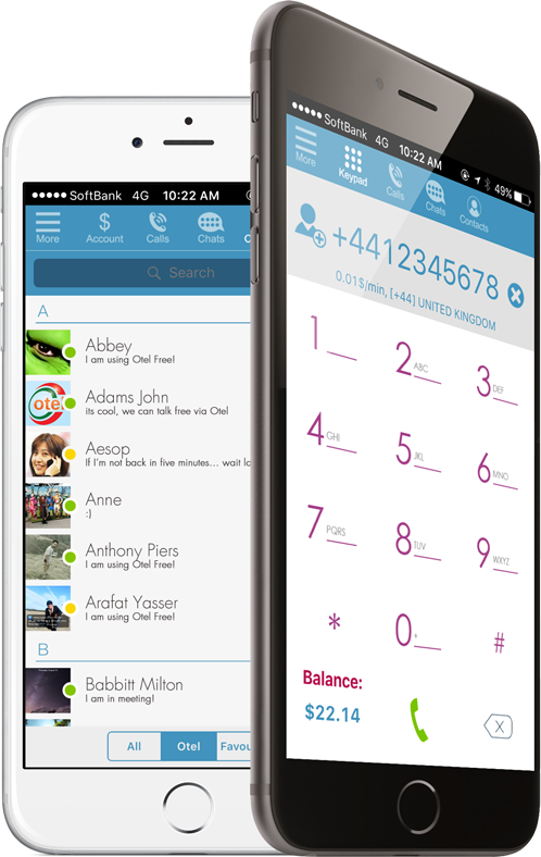 Make Phone Calls and Chat for Free with Otel for iOS